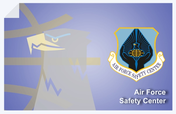 Air Force Safety Center web banner. (U.S. Air Force graphic by Andy Yacenda, Defense Media Activity-San Antonio)