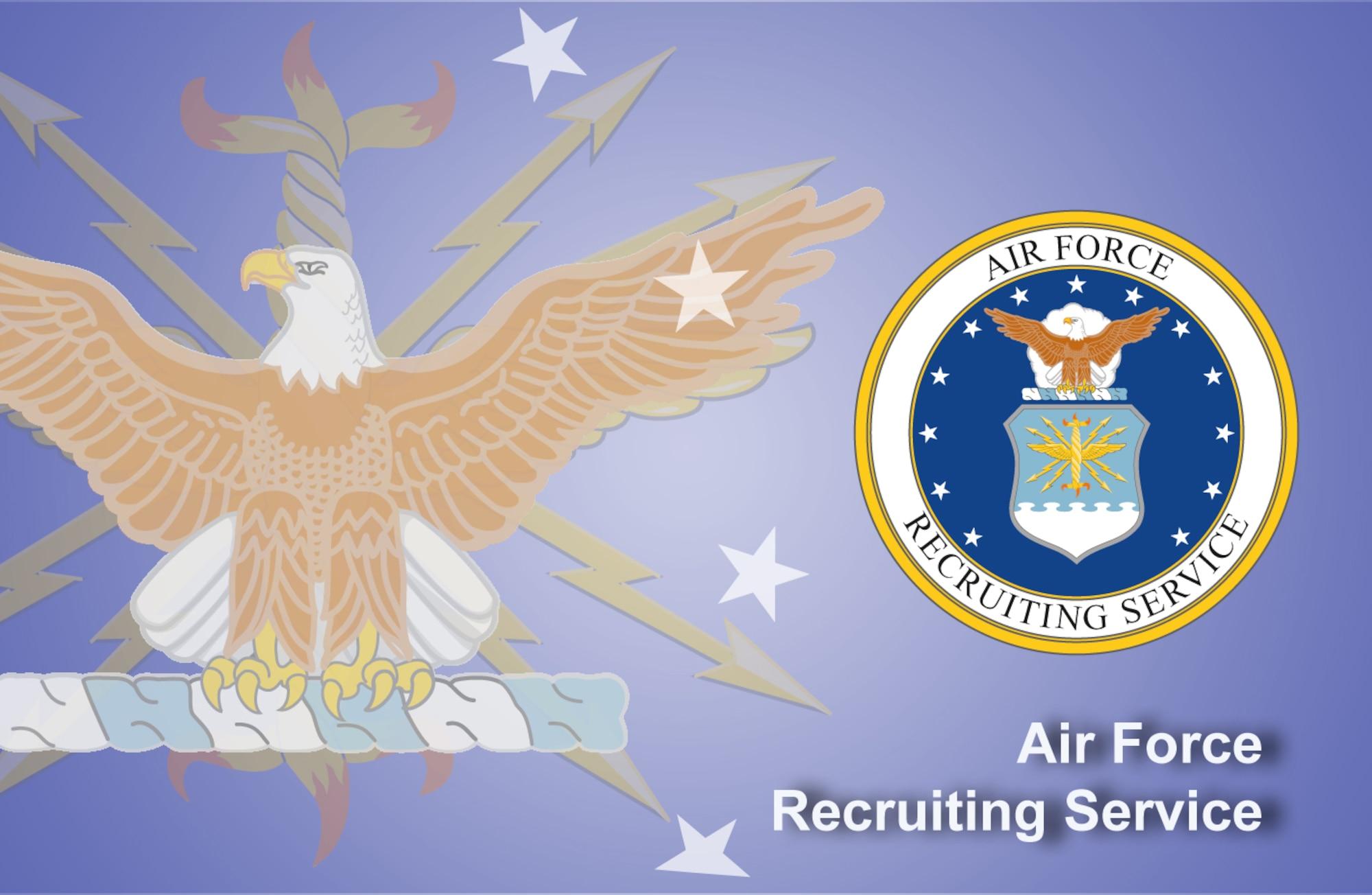 Air Force Recruiting Service fact sheet banner. (U.S. Air Force graphic by Andy Yacenda, Defense Media Activity-San Antonio)
