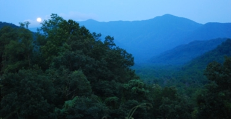 The foothills of the Great Smoky Mountains National Park, Gatlinburg, Tenn., at a Yellow Ribbon Reintegration Program, July 23-25.  (U.S. Air Force photo/J.D. Marckmann)