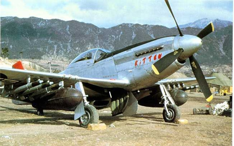 F-51 Mustang, close air support asset during Korean War, with napalm, rockets and machine guns (U.S. Air Force photo)