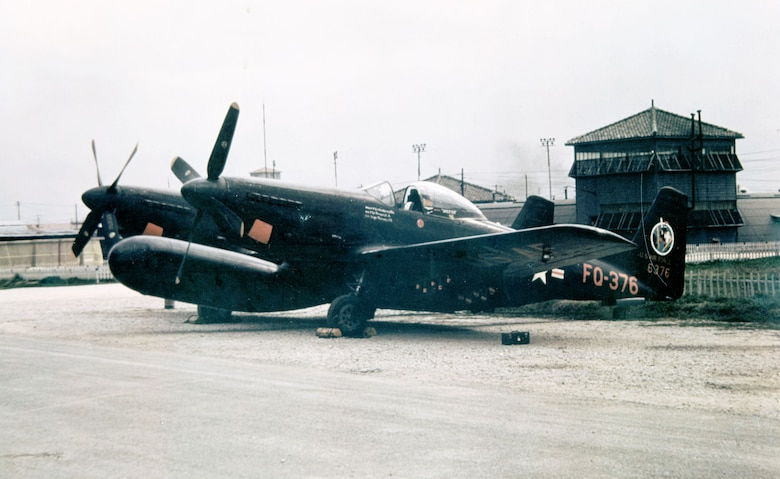 F-82G of the 68th Fighter (All Weather) Squadron based at Itazuke Air Base, Japan. (U.S. Air Force photo)