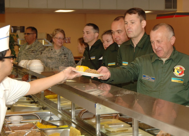 High-ranking officers from Ukraine visit the 146th Airlift Wing to learn ways to fine-tune their own deployment processes May 2010.