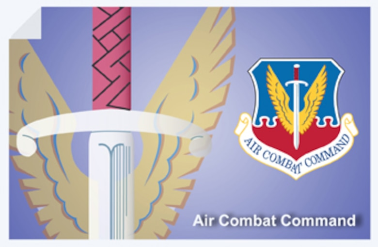 Air Combat Command web banner. (U.S. Air Force graphic by Andy Yacenda, Defense Media Activity-San Antonio)