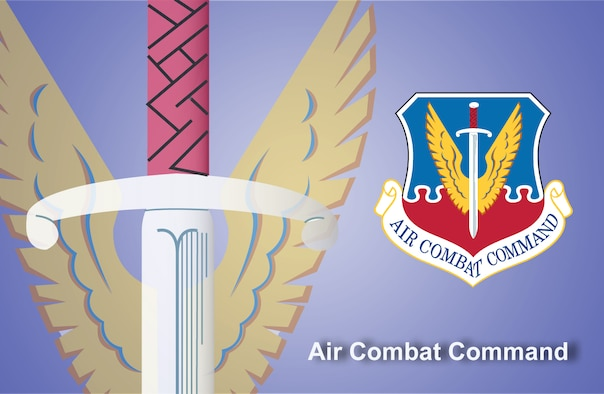 Air Combat Command fact sheet banner. (U.S. Air Force graphic by Andy Yacenda, Defense Media Activity-San Antonio)