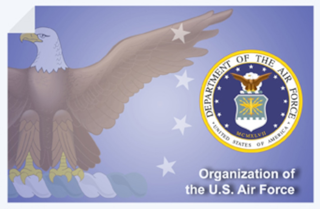 Organization of the U.S. Air Force web banner. (U.S. Air Force graphic by Andy Yacenda, Defense Media Activity-San Antonio).