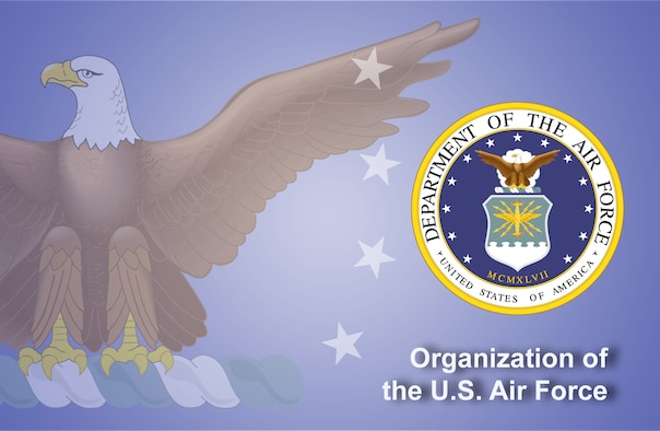 Organization of the U.S. Air Force fact sheet banner. (U.S. Air Force graphic by Andy Yacenda, Defense Media Activity-San Antonio)