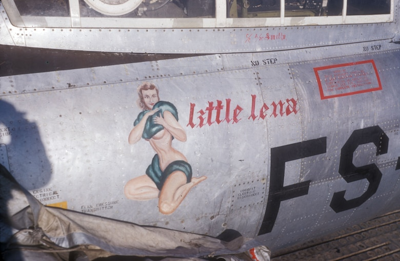 B-26 and F-84s, like other USAF aircraft in Korea, often had nose art. (U.S. Air Force photo)
