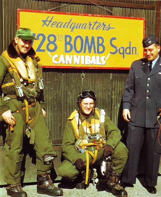 Air Force Reserve members of the 728th Bomb Squadron, 452nd Bomb Group. The group was ordered to active duty for combat in Korea in August 1950. (U.S. Air Force photo)