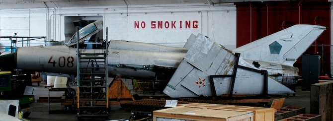 DAYTON, Ohio (06/2010) -- MiG-21 in the Restoration Hangar at the National Museum of the U.S. Air Force. (U.S. Air Force Photo)