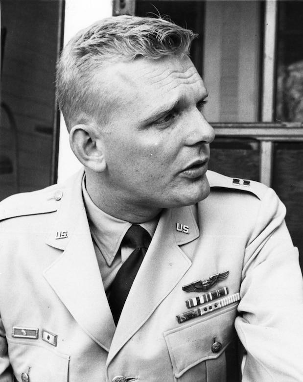 Capt. Iven C. Kincheloe Jr. in November 1956 following his Bell X-2 flight. (U.S. Air Force photo)