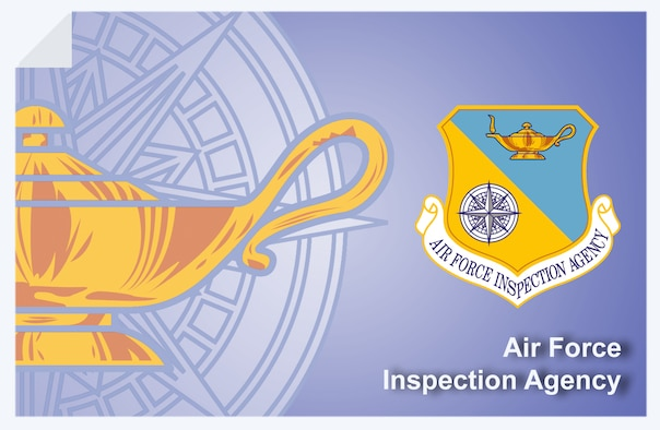 Air Force Inspection Agency web banner. (U.S. Air Force graphic by Andy Yacenda, Defense Media Activity-San Antonio)