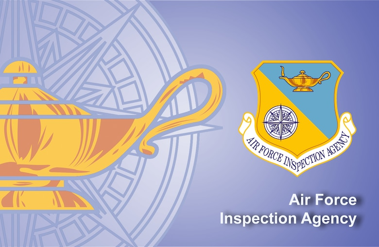 Air Force Inspection Agency fact sheet banner. (U.S. Air Force graphic by Andy Yacenda, Defense Media Activity-San Antonio)