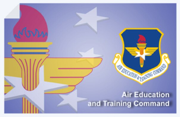 Air Education and Training Command web banner. (U.S. Air Force graphic by Andy Yacenda, Defense Media Activity-San Antonio)
