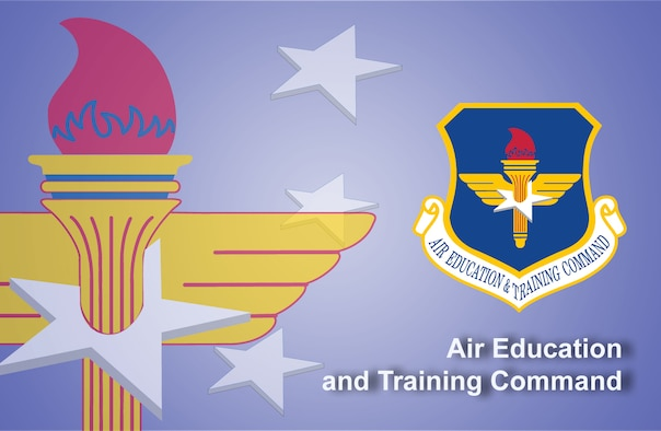 Air Education and Training Command fact sheet banner. (U.S. Air Force graphic by Andy Yacenda, Defense Media Activity-San Antonio)