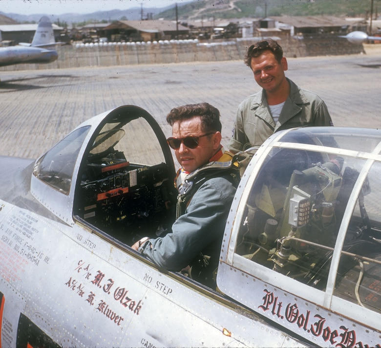 Col. Joseph Davis Jr. in the cockpit of his aircraft. (U.S. Air Force photo)