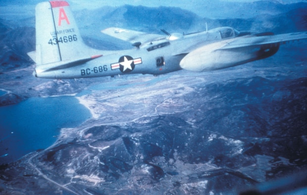 B-26C light bomber on a daytime mission in 1951. (U.S. Air Force photo)