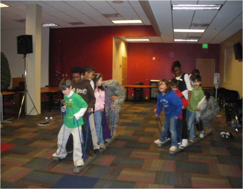 The guard kids had lots of fun at the lock-in – with team building  activities, games, crafts, and just making new friends!