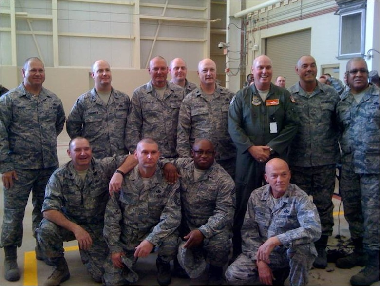 Here are our wonderful LCAP Haircut volunteers (from top left): Chief Darren Brown, Captain Shawn Braddock, Chief Duane Porter, Lt Col Marc Kelly, Lt Col Alan Stephens, Col Harry Montgomery, Chief Matt Walker, Chief Jimmie Jones, Lt Col Keith Stiles, Chief Mark Wagner, Chief Harold Middleton, and our commander Col Randy Myers.