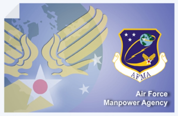 Air Force Manpower Agency web banner. (U.S. Air Force graphic by Andy Yacenda, Defense Media Activity-San Antonio)