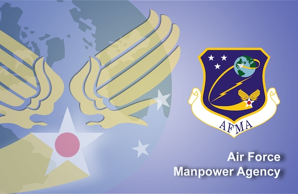 Air Force Manpower Agency fact sheet banner. (U.S. Air Force graphic by Andy Yacenda, Defense Media Activity-San Antonio)