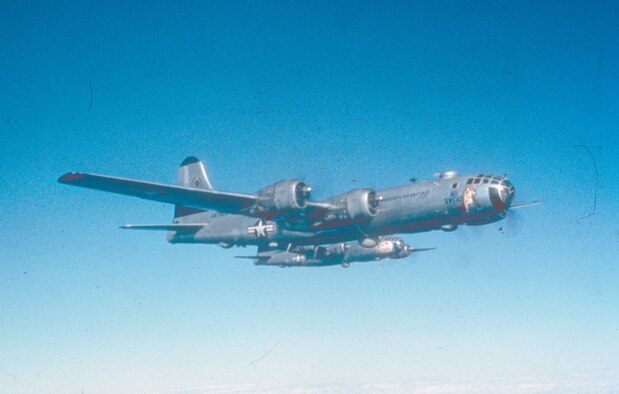 B-29s on a daytime strike over North Korea in 1950. (U.S. Air Force photo)