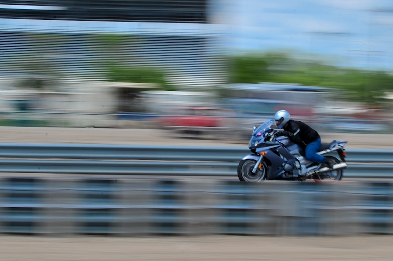 MINOT, N.D. -- A motorcycle takes a trip down the dragway during a race