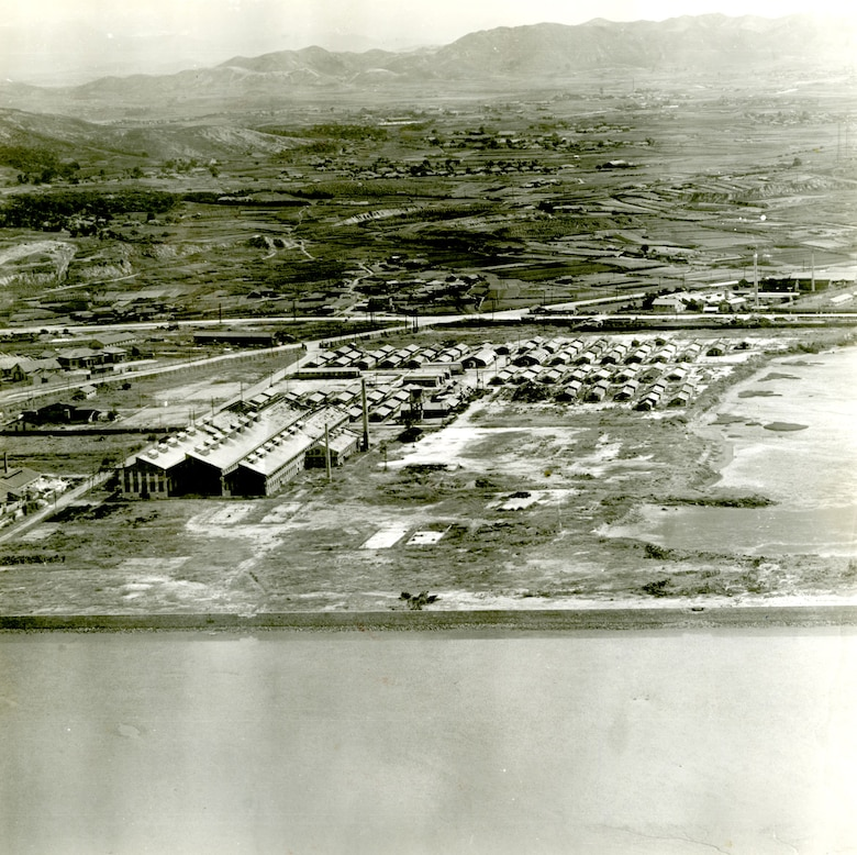 Pre-landing reconnaissance photo of Inchon taken by an RF-80 on Aug. 31, 1950. (U.S. Air Force photo)
