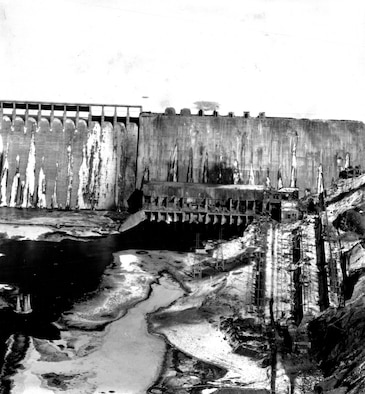 At great risk, an RF-80 pilot shot this remarkable low-level photo of the Suiho dam. (U.S. Air Force photo)