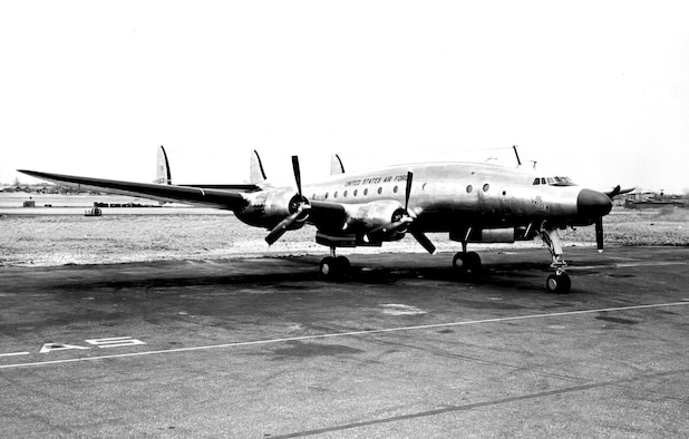 "Gen. Douglas MacArthur named his VC-121A transport ""Bataan"" after his World War II experiences in the Philippines. (U.S. Air Force photo)"