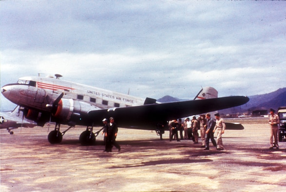 The ever-present C-47 Skytrain proved to be the only multi-engine transport able to fly from the smaller forward airfields in Korea. (U.S. Air Force photo)