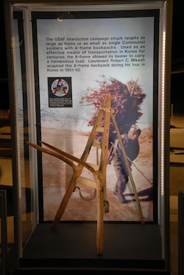 DAYTON, Ohio -- A-frame exhibit in the Korean War Gallery at the National Museum of the U.S. Air Force. (U.S. Air Force photo)