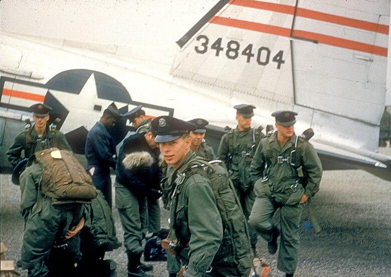 Airman John Cook takes one last look back before leaving Korea. (U.S. Air Force photo)