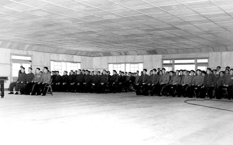 Communist delegation at the armistice signing. (U.S. Air Force photo)