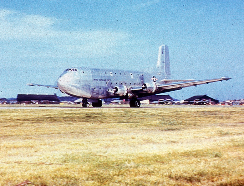 The huge new C-124 could carry 200 walking wounded or 127 litter patients. (U.S. Air Force photo)