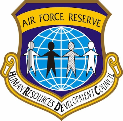The Air Force Reserve Command's Human Resources Development Council emblem. (U.S. Air Force graphic)