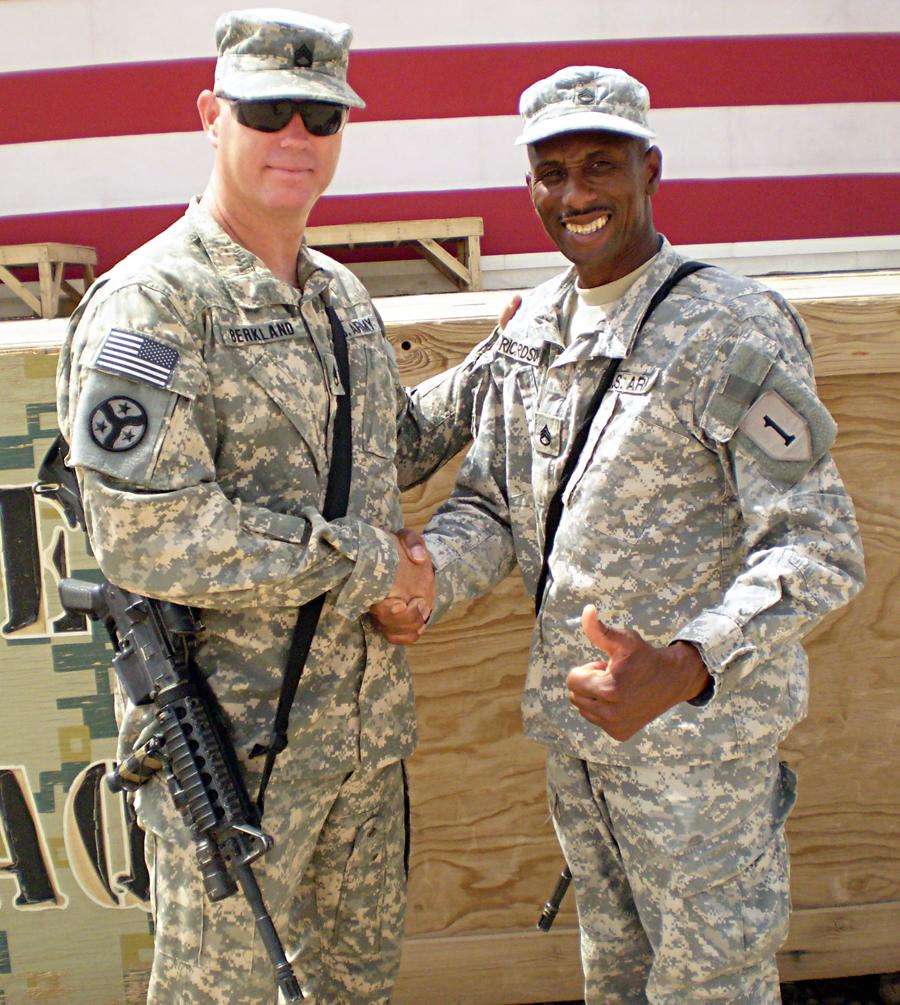 Staff Sgt Paul Berkland Left And Ike Richardson Both