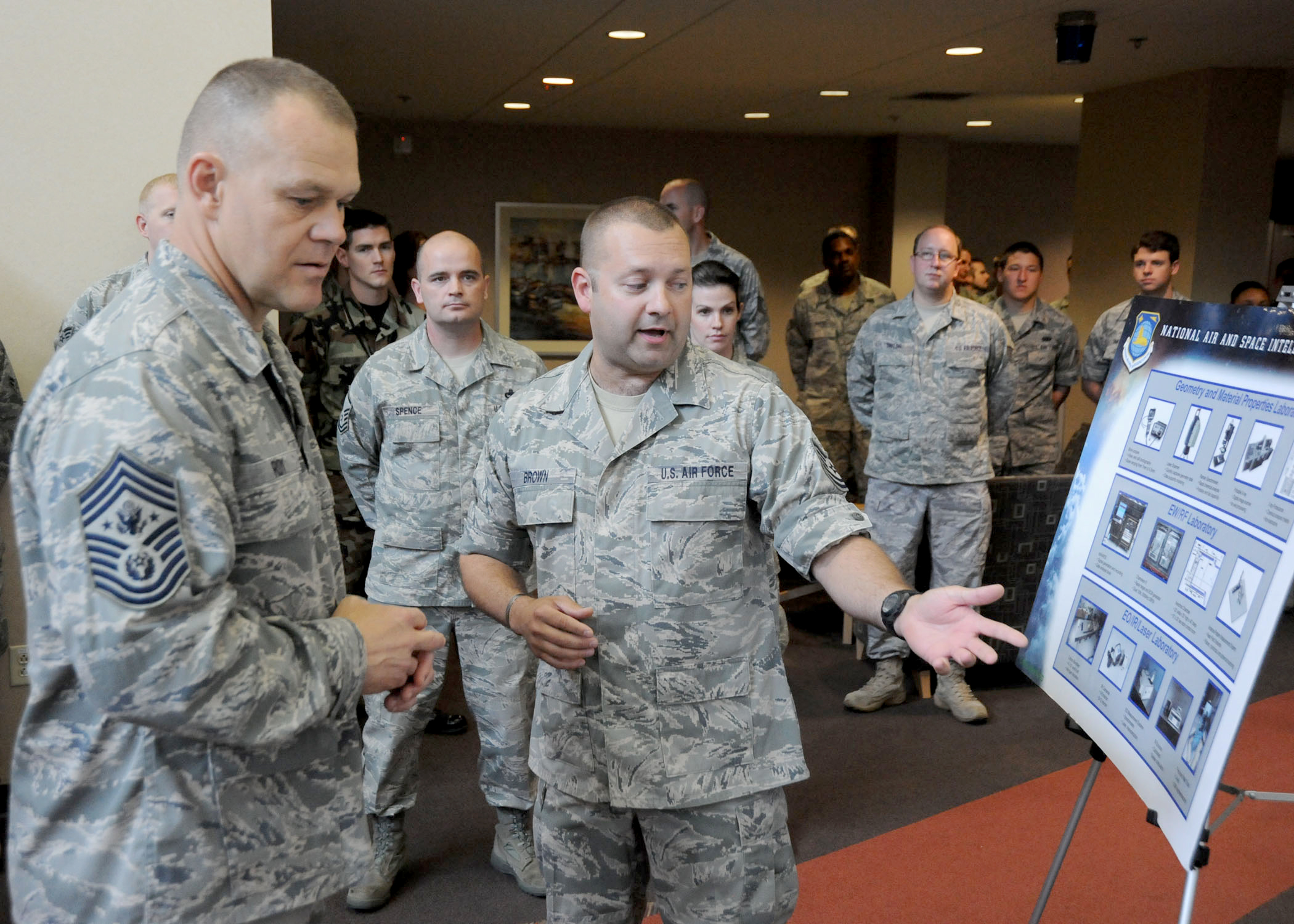Air force 39 s top enlisted leader visits nasic airmen u s for Uniform spaces pdf