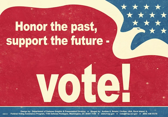 Armed services Voters' Week is June 28-July 7, when military voters will be educated on upcoming elections, absentee voting procedures and voter resources, with a goal of making 100 percent contact with Bolling's military voters in order to maximize absentee voter registration this year.