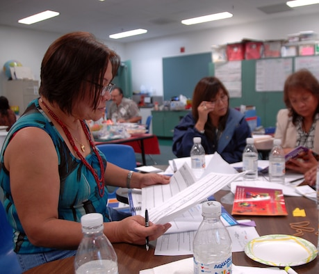 ANDERSEN AIR FORCE BASE, Guam - Teachers from Andersen and McCool Elementary Schools prepare for the annual summer enrichment program here June 22. The program focuses on the arts and is scheduled to begin June 28. (Air Force photo by Airman Whitney Amstutz)