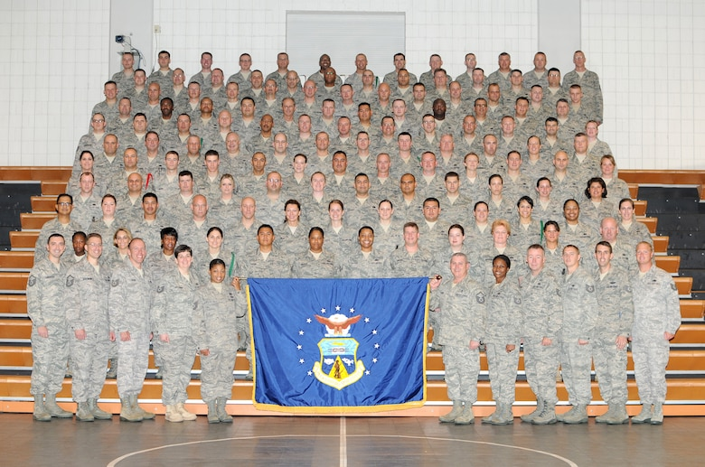 McGHEE TYSON AIR NATIONAL GUARD BASE, Tenn. -- Satellite NCO Academy Class 10-6 gathers at Wilson Hall on the campus of The I.G. Brown Air National Guard Training and Education Center here, June 15, 2010. (U.S. Air Force photo by Master Sgt. Kurt Skoglund/Released)