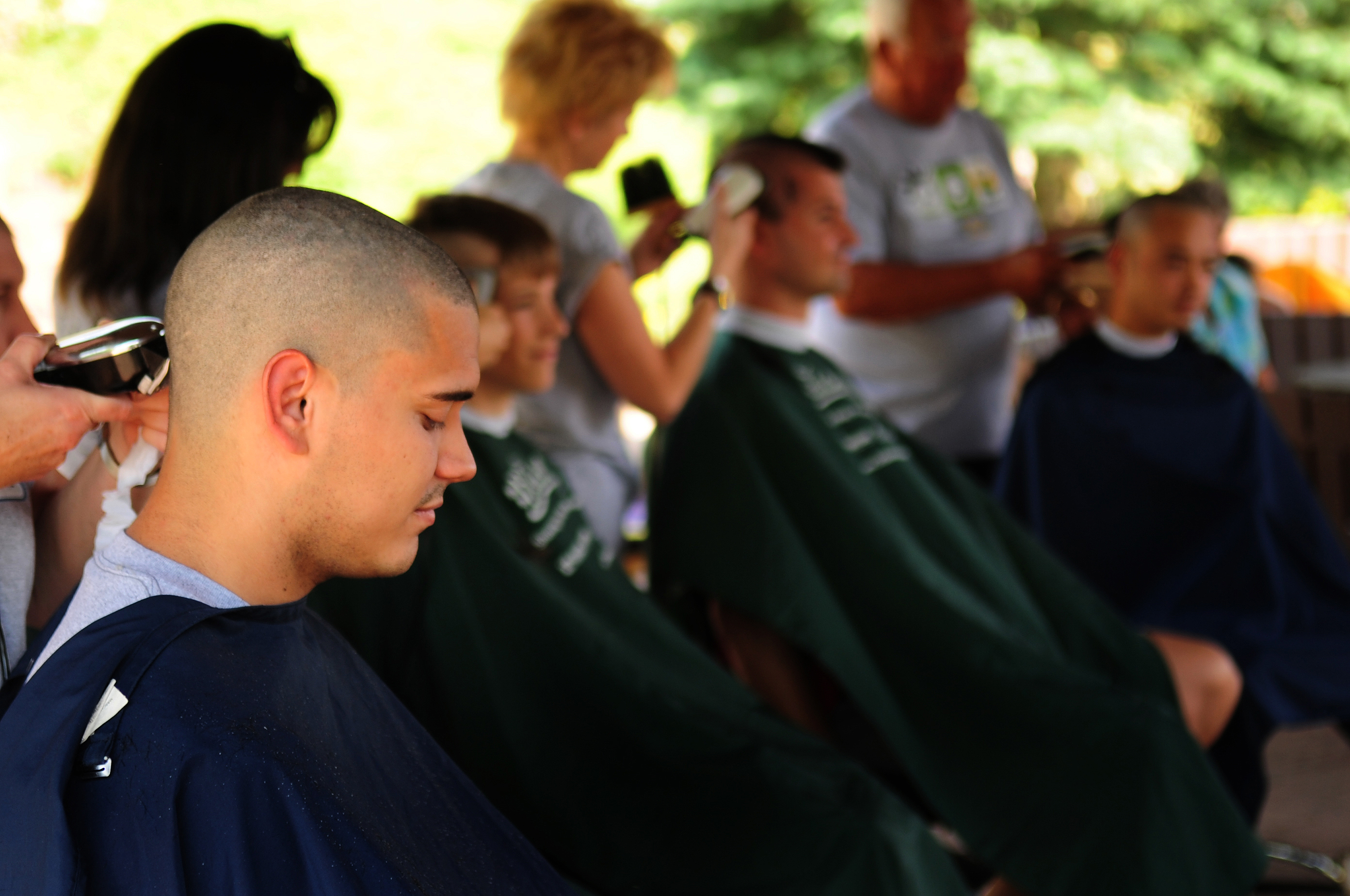 Ramstein Airmen Pay St Baldricks 6645 For Haircut Us Air