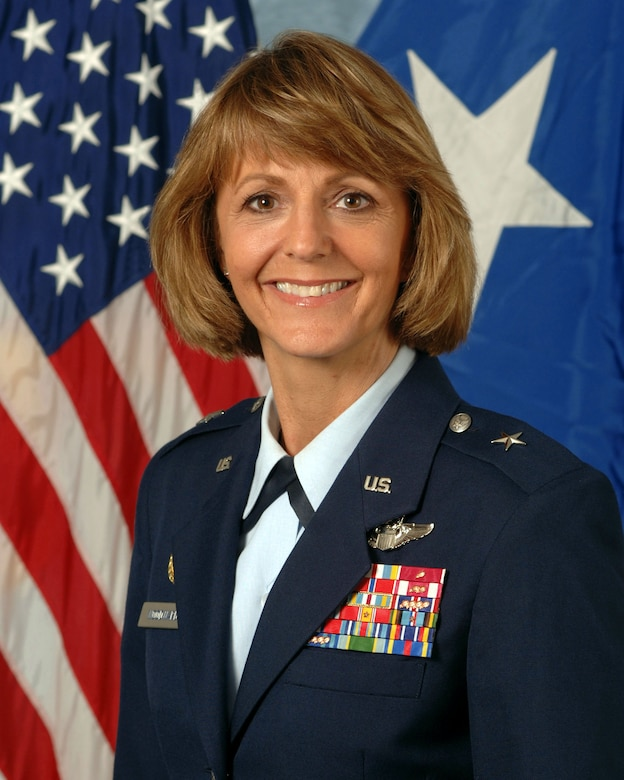 Brig. Gen. Margaret H. Woodward is Commander, 17th Air Force and U.S. Air Forces Africa, Ramstein Air Base, Germany. The command serves as the Air Component for U.S. Africa Command and has responsibility for all Air Force activities in the Africa theater spanning 53 countries, 11 million square miles and more than 900 million people. (Official photo)