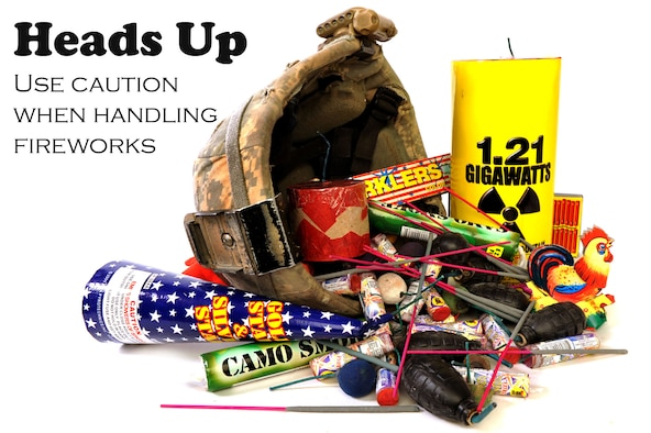 According to the National Fire Protection Association, approximatley 7,000 fireworks-related injuries are treated in hospital emergency rooms and nearly 22,500 fires  are started by fireworks each year. So use your head this Fourth of July and protect yourself by using caution and common sense when handling fireworks. (U.S. Air Force Photo Illustration by Staff Sgt. Andrea Thacker/RELEASED)