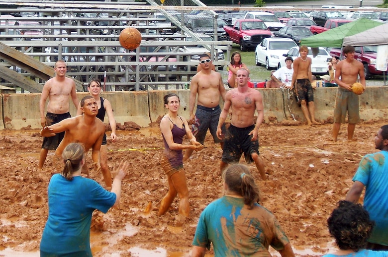 MCGHEE  TYSON ANGB, Tenn. - Students of The I.G. Brown Air National Guard Training and Education Center's Airman Leadership School Class 10-4 help raise more than $20,000 for the Epilepsy Foundation of East Tennessee during the organization's annual Mud Volleyball Tournament at Chilhowee Park in Knoxville, June 26,2010. (U.S. Air Force photo by Master Sgt. Michael Moore/Released)