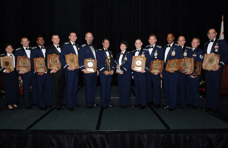 Sixteen individuals and organizations from the Space and Missile Systems Center were honored at the annual AFA Salute to SMC, June 25. (Photo by Jim Gordon)