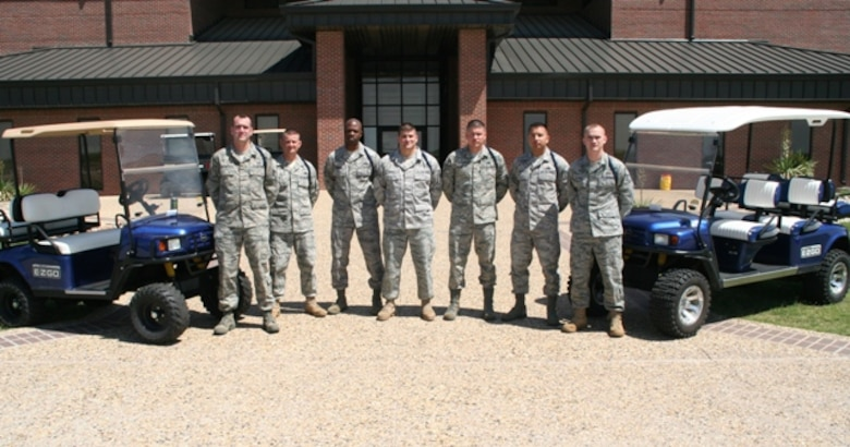 Military Training Leaders provide solid groundwork that help our professional Airmen become successful. MTLs from the 316th Training Squadron are (from left): Staff Sgt. Barack Heaney, Staff Sgt. Glenn Burnett, Tech. Sgt. Jonathan Session, Staff Sgt. John Otero, Staff Sgt. Randal Brooks, Staff Sgt. Raynaldo Carrasco and Staff Sgt. James Davison. (U.S. Air Force photo)