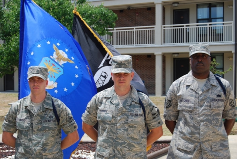 Military Training Leaders provide solid groundwork that help our professional Airmen become successful. MTLs from the 313th Training Squadron (from left): Tech. Sgt. Salvatore Luizzi, Master Sgt. Ricky Choate and Tech. Sgt. Jonathan Mitchell. (U.S. Air Force photo)