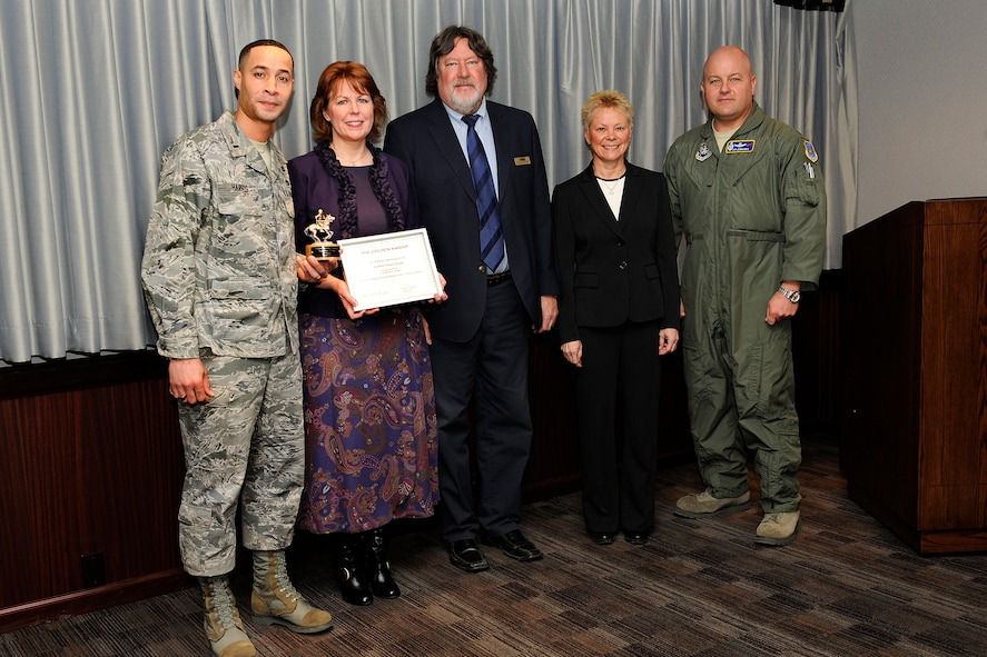 The LeMay Preparation Team from the 21st Force Support Squadron was named one of two Golden Knight recipients for January. (U.S. Air Force photo/Craig Denton)
