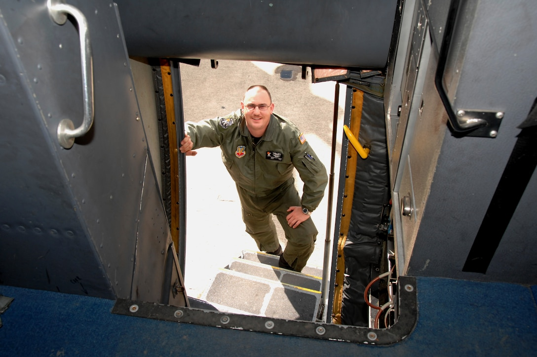 Staff Sgt. Dough Quayle, 130th Rescue Squadron flight engineer, is this month's Portrait of a Professional. (Air National Guard photo by Master Sgt. Dan Kacir)