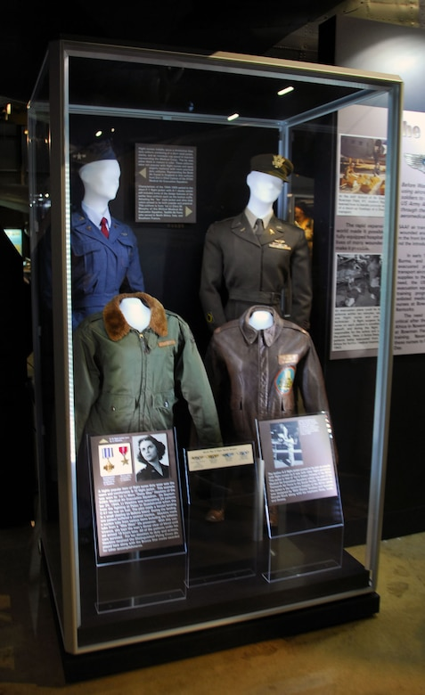"DAYTON, Ohio -- ""Winged Angels: USAAF Flight Nurses in WWII"" exhibit in the World War II Gallery at the National Museum of the U.S. Air Force. (U.S. Air Force photo)"